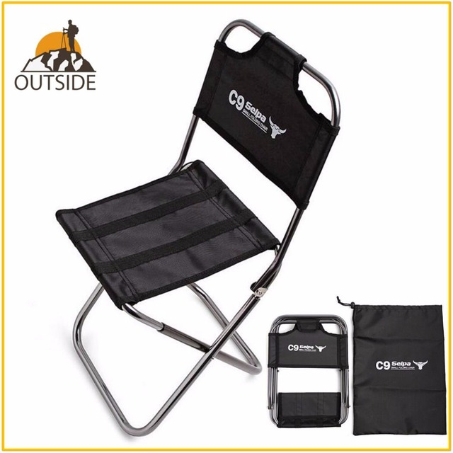 Silla de pescar al aire libre ligera con fuerte aleación de aluminio de nailon camuflaje plegable Silla de tamaño pequeño Camping silla para senderismo asiento taburete