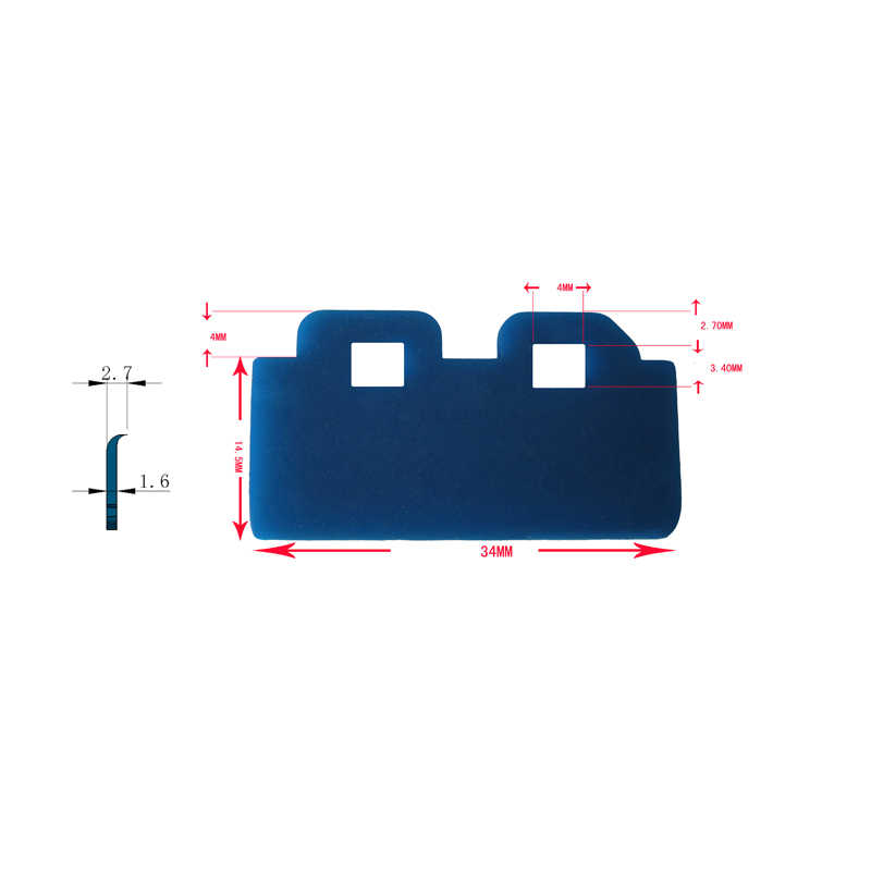 5 pcs DX4 Printhead Pelarut Wiper untuk Epson 7600 9600 Menyuntikkan JV33 semua DX4 DX5 printer pada kualitas tinggi gratis pengiriman