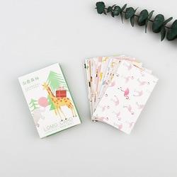 28 قطعة/الحزمة علاج الغابات بطاقات المعايدة البسيطة LOMO بطاقة بريدية عيد إلكتروني مغلف كرت هدية مجموعة رسالة بطاقة M0508