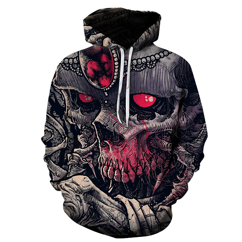 Skull head Hoodies Men Sweatshirts 3D Printed Funny Harajuku Hoodie Novelty Streetwear Hoody Mlae Tracksuits Autumn Jackets Men