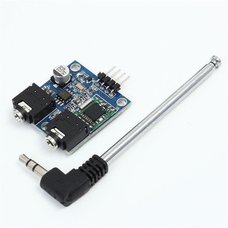 FM Stéréo Radio Module 5 V TEA5767 76-108 MHZ FM Radio Module Haute Stabilité et Une Faible Bruit + Câble antenne