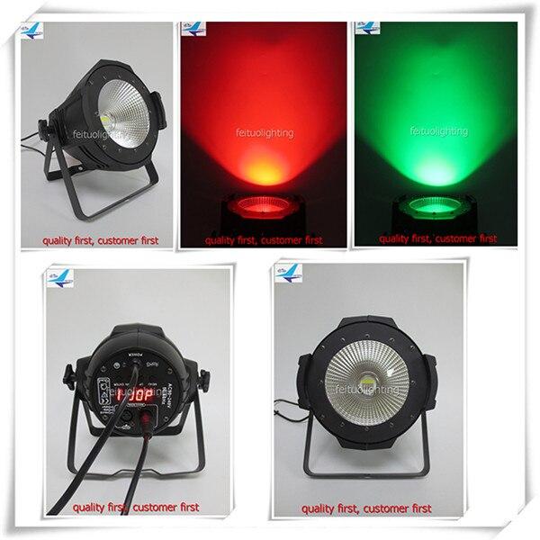 8pcs Party projector led par cob 100w rgbw 4in1 cob lense led cob par light 100w
