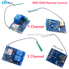 DIYmall 2G Network 1/2 Channel Relay Module SMS GSM Remote Control Switch SIM800C STM32F103CBT6 for Greenhouse Oxygen Pump цена и фото