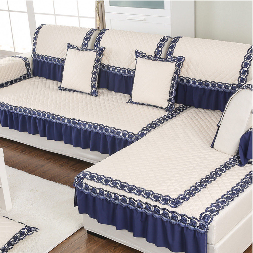 stylish sofa arm covers | Modern Polyester Fabric Sofa Cover Lace Vertical Design ...