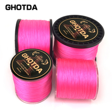 GHOTDA PE Pink Braid Fishing Line 8 Strands 300M 500M 1000M Sea Fishing Weave Super Strong Threads