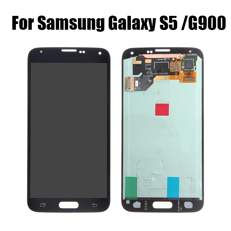 <font><b>Super</b></font> <font><b>AMOLED</b></font> LCD for <font><b>Samsung</b></font> Galaxy <font><b>S5</b></font> LCD G900F G900M G900A G900T <font><b>Display</b></font> Touch Screen Digitizer Screen Replacement For G900 image