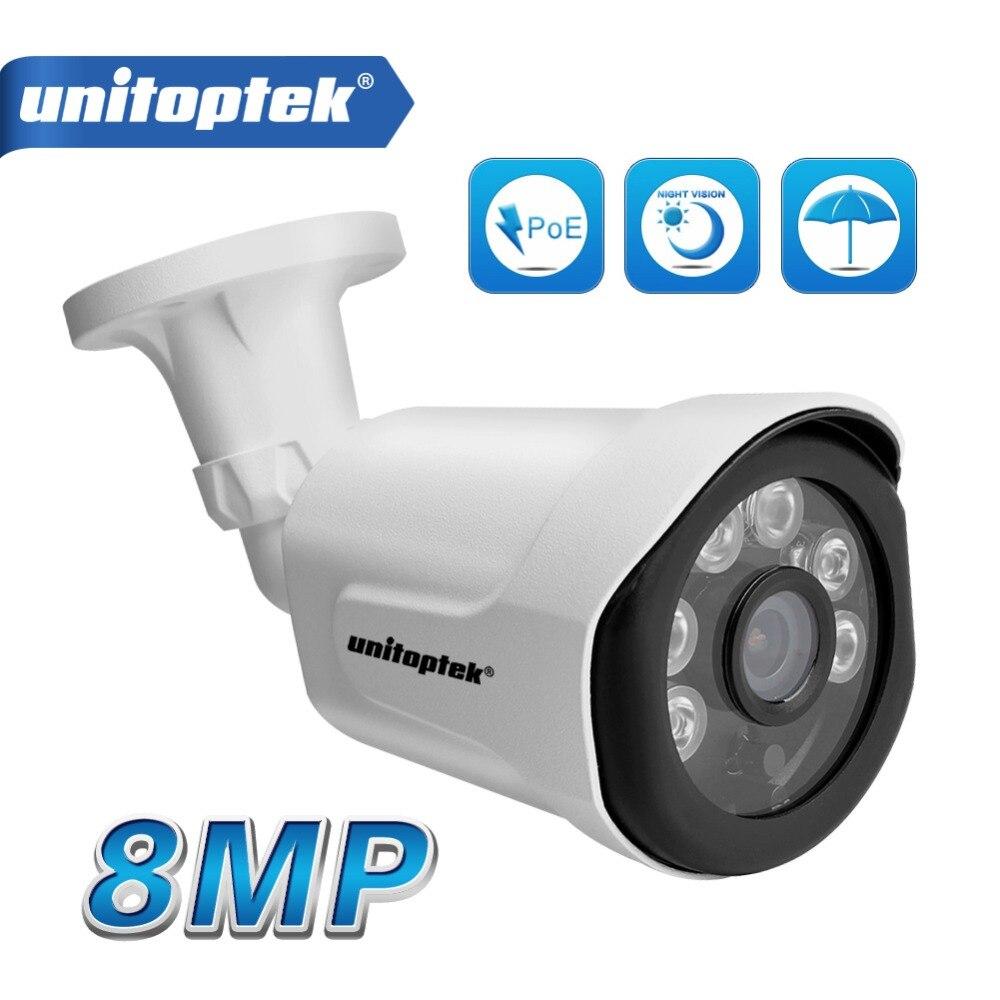 Ultra HD 8MP 4 K IP Della Pallottola Esterna Telecamera di Visione notturna Cassa del Metallo Movimento Rileva Allarme sorveglianza Videocamera di Sicurezza IP Record