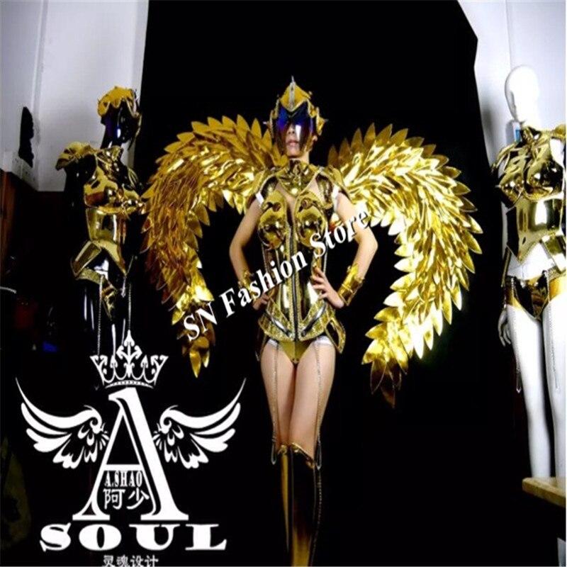 ES001 Vestido de baile de espejo dorado / disfraces / Ropa de alas de - Para fiestas y celebraciones - foto 4