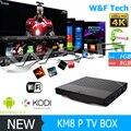 2017 Nova KM8 Pró octa núcleo tv box Amlogic S912 KM8P Android tv caixa de 1 GB 8 GB Kodi totalmente carregado 4 K caixa de mídia PK T95N T95M X96