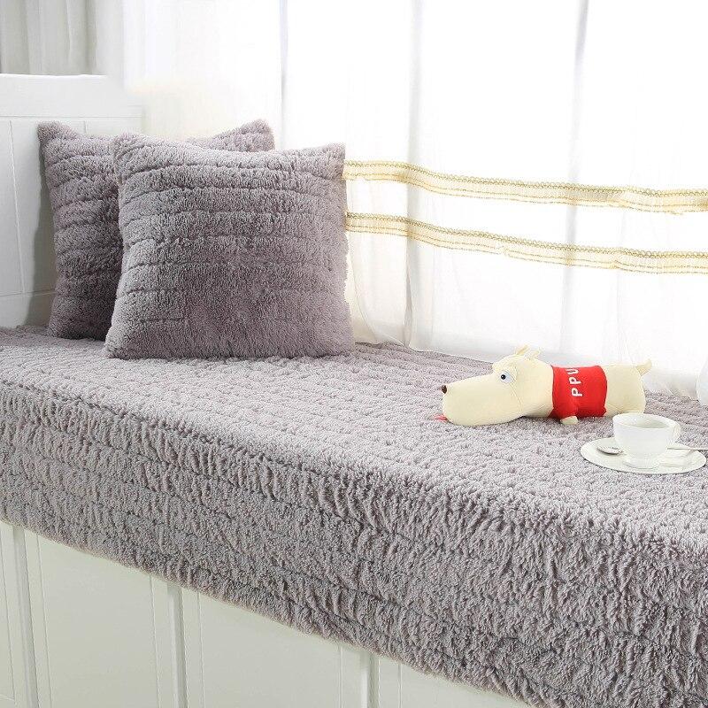 Plush Sofa Cover Towel Striped Fluff