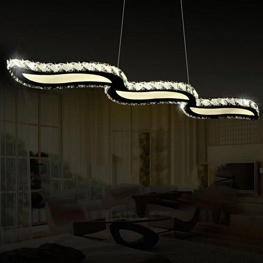 Nouvelle Arrivée K9 Cristal LED Lampes Suspendues Lustre Vagues Suspendus Luminaires lampe Pour La Maison Éclairages Droplight Luminaire Lustres
