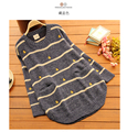 Pregnancy Women pullover Striped Duck pattern beige long sweater Autumn sweaters for pregnant maternity clothes sweatshirts