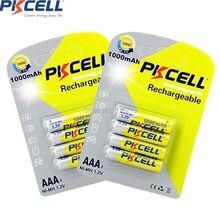 8Pcs/2Pack PKCELL Ni Mh AAA 1000mAh 1,2 V AAA Akku für Kamera Taschenlampe Spielzeug