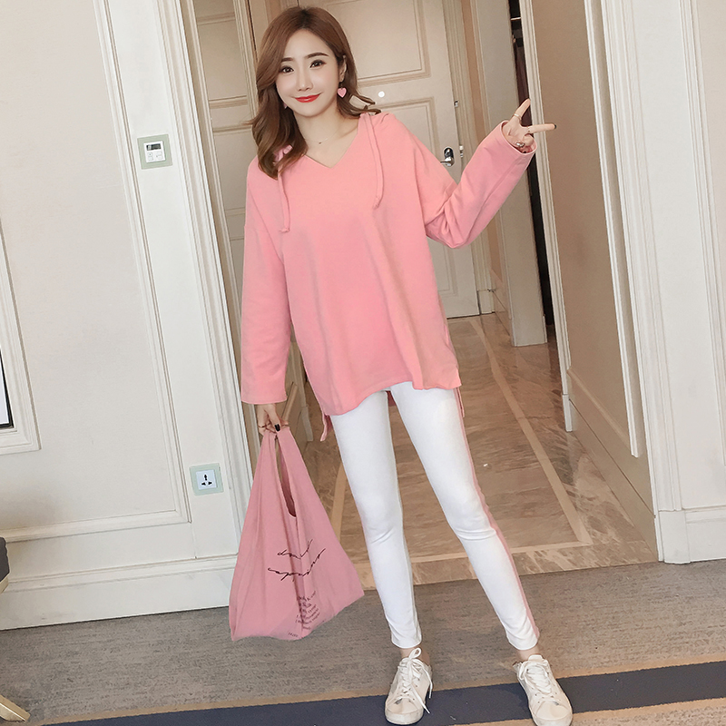 Afei Tony High Quality maternity clothes Long Sleeve Loose Casual 2018 Autumn Sexy Fashion 2 piece set pregnancy clothes 6