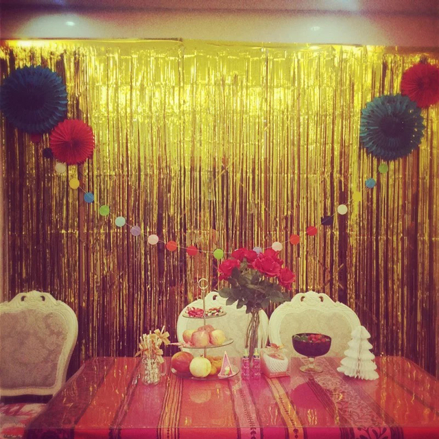 1mx1m Wedding Birthda Party Background Wall Balloon Curtain Wedding ...