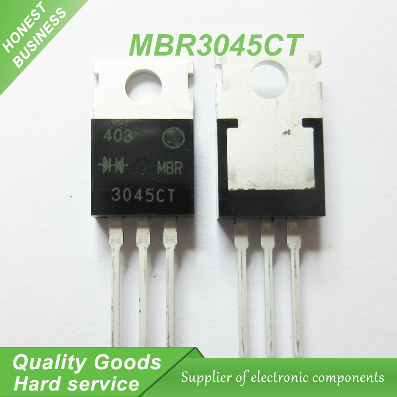 20pcs/lot <font><b>MBR3045CT</b></font> 30A45V Schottky and fast recovery diode TO-220 new original image