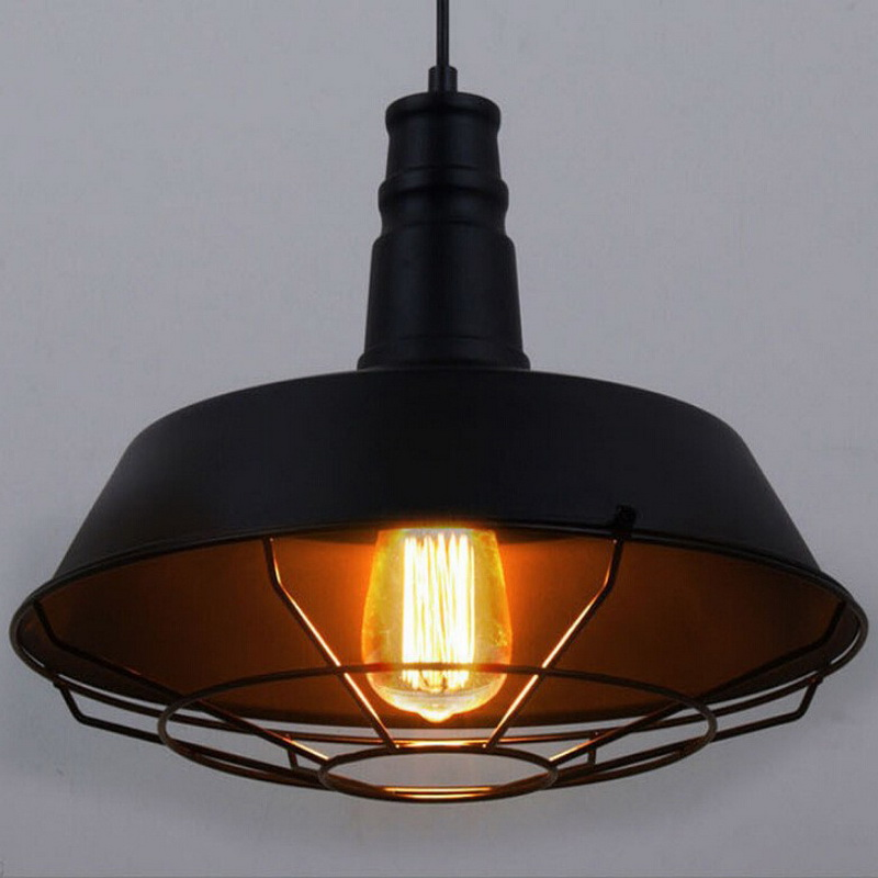 American Industrial Loft Style Vintage Aisle Pendant Light Wrought Iron Coffee Shop Net Lamp Bar Decoration Light Free Shipping