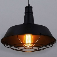 American Industrial Loft Style Vintage Aisle Pendant Light Wrought Iron Coffee Shop Net Lamp Bar Decoration
