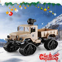 1/16 6WD RC car Military Truck Rock Crawler control vehicle communication toys For Children Auto army trucks Christmas gift