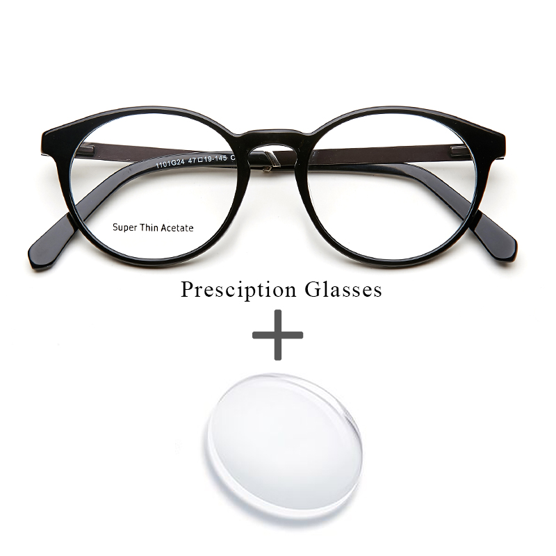 Acetate Prescription Glasses Women Men Harry Potter Round Optical Myopia Computer Transparent Prescription Glasses For Men
