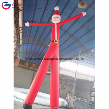 цена на Christmas Santa Claus toy mini inflatable dancing tube man, inflatable santa claus tube man for sale
