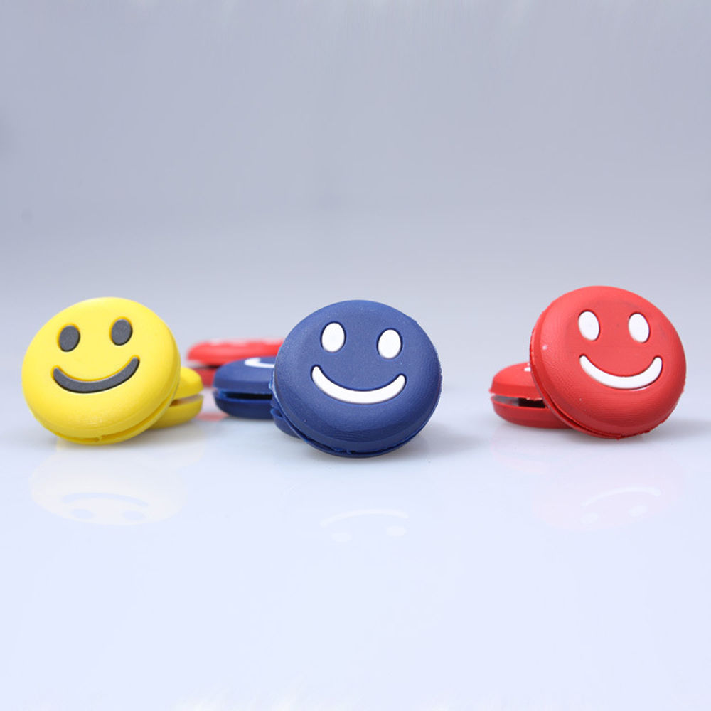 Smile FaceVibration Dampener Shock Absorber for Tennis Badminton Racquet Silicone 5PCS Color random