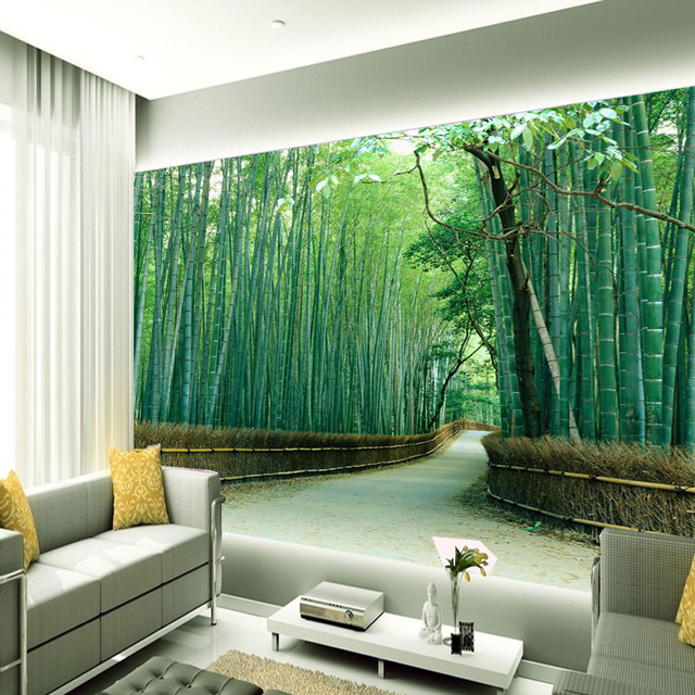 Buy wall paper for walls 3d stereoscopic for Bamboo wallpaper for walls