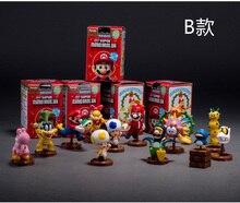 13pcs Super Mario Bros 6cm Yoshi Luigi Bowser Donkey Kong Koopa Beach Princess Star Dinosaur Pvc Figure Dolls