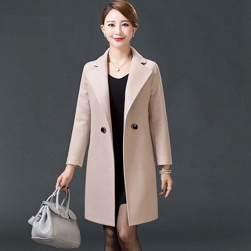 Ms Long section Wool woolen Self cultivation Large size Woolen font b jacket b font