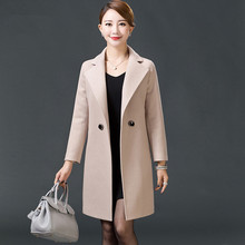 Ms Long section Wool woolen Self-cultivation Large size Woolen jacket