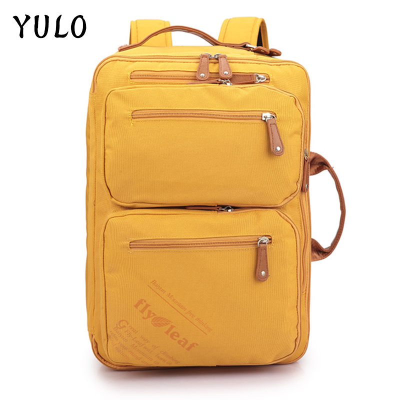YULO Casual School Men' Backpack Bags Waterproof Trekking Travel 15inch Laptop Student Large Capacity Male Backpack Wholesale large 14 15 inch notebook backpack men s travel backpack waterproof nylon school bags for teenagers casual shoulder male bag
