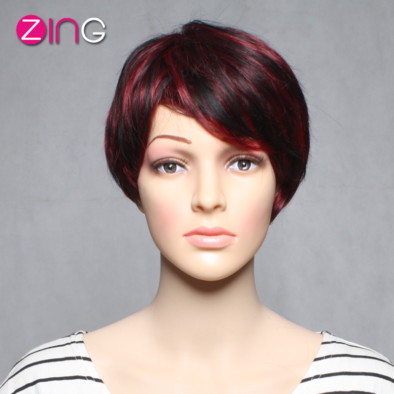 Fashion Womens Wigs Synthetic Wigs Cosplay Cute Short Haircuts