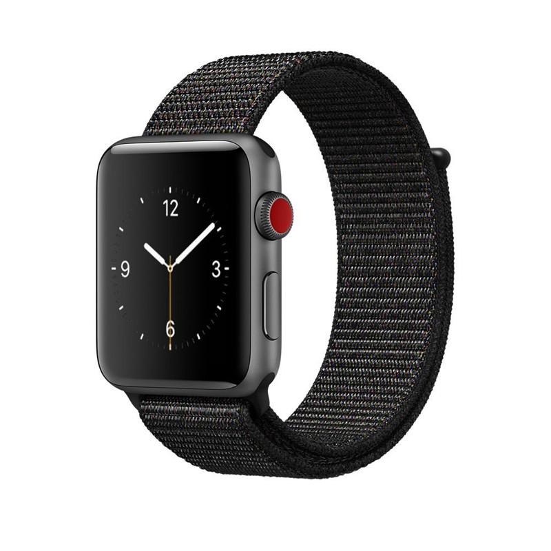 AMAZFEEL Sports Nylon Strap for Apple Watch Band Colorful Nylon Loop Clasp Woven Wrist Braclet Belt for iwatch1 2 3 Watch Bands