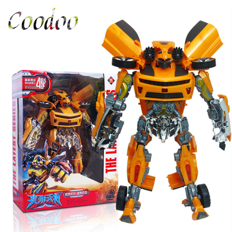 Children Deformable Manual Robot Action & Toy Figures Hornet Red Thorn King Kong Robot Acousto-optic Model Boy Toys Gifts A4