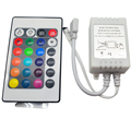 5-24V 24 Key Wireless IR Remote Control RGB LED Controller Dimmer for LED Strip 5050 3528 3 channels