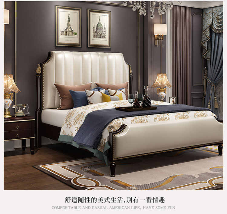 Hot Sale Luxury Italian Bed Classic Antique Bed Europe Designs