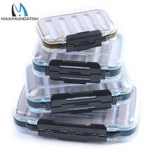 Maximumcatch 4Sizes Slit Foam&Easy-Grip Foam Fly Fishing Box Double Side Waterproof Plastic Tackle Box Transparent Fly Box