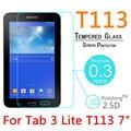 """T113 9 H 0.3mm A Prueba de Explosiones de Cristal Templado Para Samsung Galaxy Tab 3 Lite T113 7 """"Endurecido Cubierta de la Pantalla Protege La película"""