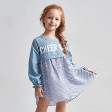 Девочки Платье Фрок дизайн Джинсовое Платье Детей Одежда для Подросткового Возраста 2 3 4 5 6 7 8 9 10 11 12 Лет Elbise Платье Осени