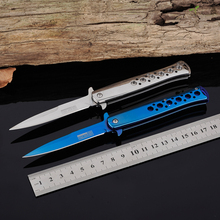 Survival Knife Pocket Folding Knife 5Cr13 Blade Stainless Steel Handle Hunting Tactical Knives Camping Outdoor Tools KN132