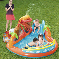 Multifunction Inflatable Figure 8 shape Cute interesting Volcanic shape Inflatable bowling Slide children's paddling