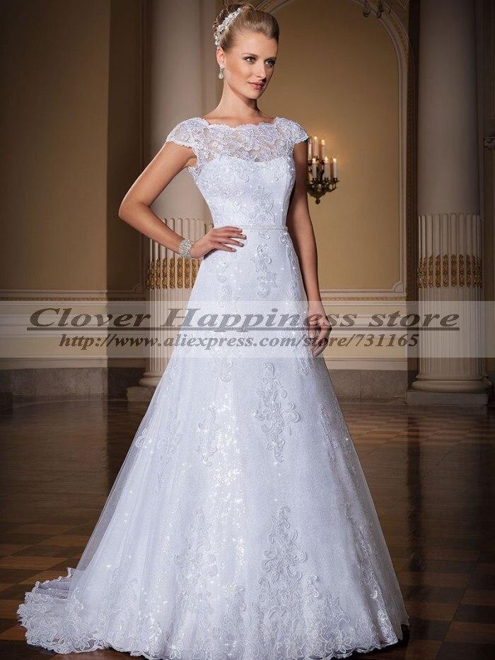 Hochzeitskleid spitze kurzarm