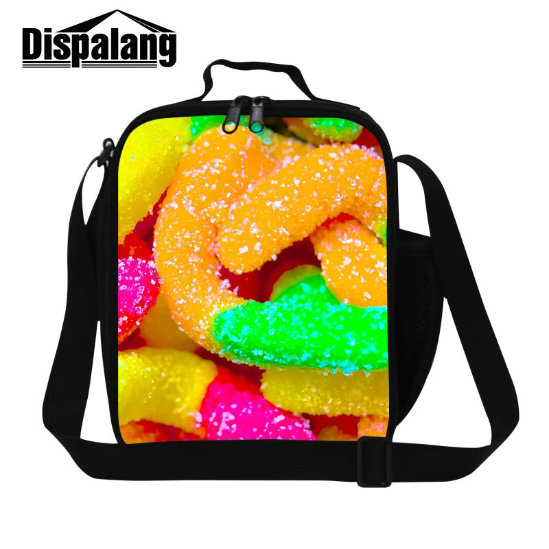 Dispalang cute candy food packing bags for girls boys kids small thermal picnic food lunch bag child insulated thermo <font><b>cooler</b></font> bag