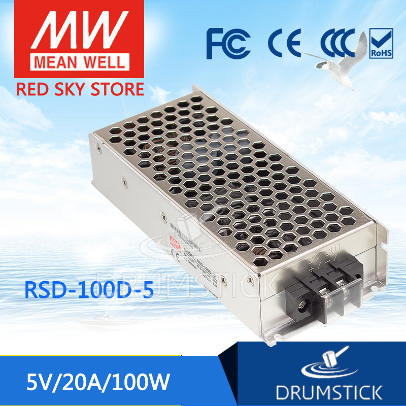 MEAN WELL RSD-100D-5 5V 20A meanwell RSD-100 5V 100W Railway Single Output DC-DC Converter