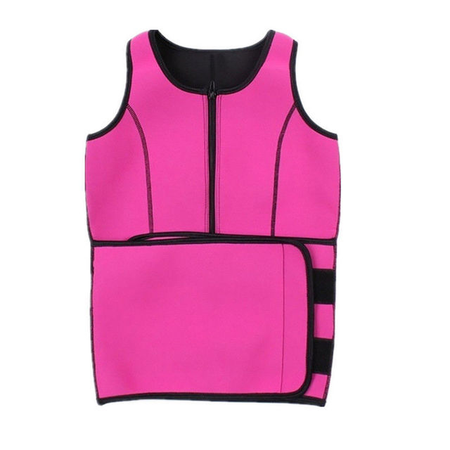 Sport Tank Tops Vest Neoprene Sauna Waist Trainer Vest Hot Shapers Shaperwear Slimming Adjustable Sweat Belt Body Waist Shapers 3