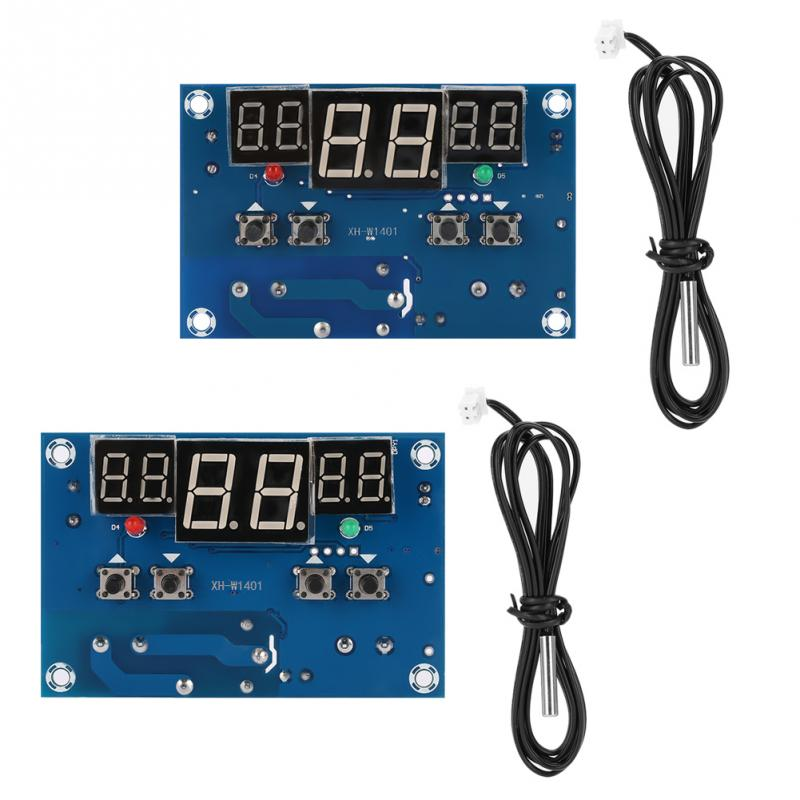 12V 24V Digital LED Display Thermostat Temperature Controller Switch Board with Probe