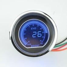 52 мм солнцезащитные очки поверхность белый корпус серебряная оправа жк-дисплей авто турбина давление обнаружения Boost gauge-30~ 35 фунтов/кв. дюйм
