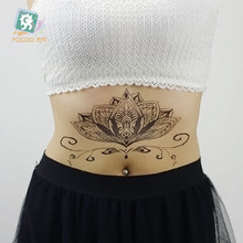 BCSeriest  Mandala Tattoo Waterproof Body Fresh Temporary Magic Simple Art Tattoos Stickers Big Tatuagem Tribal
