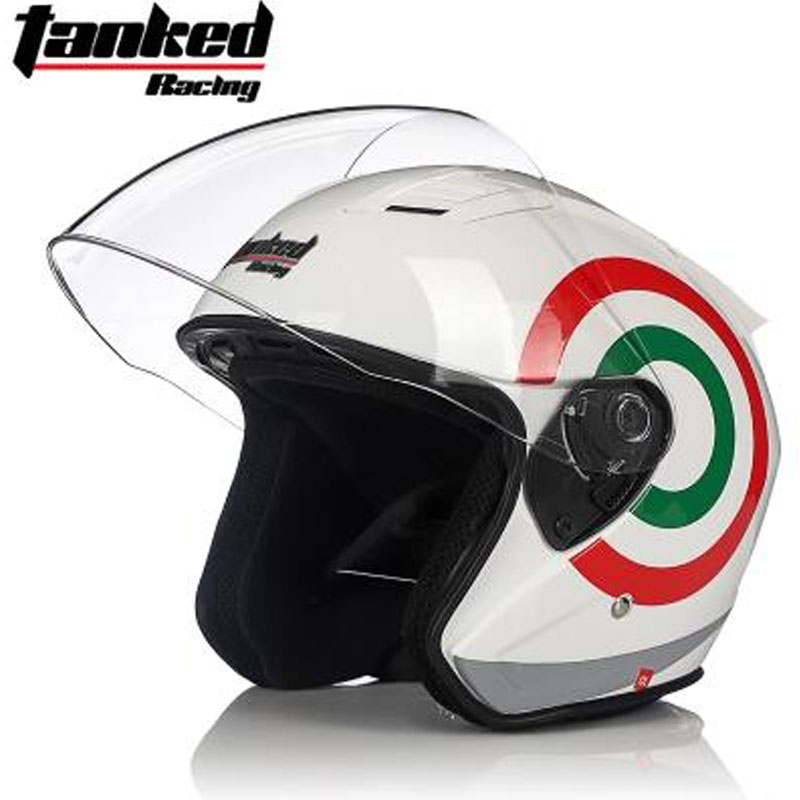 Tanked Racing Men Half face Motorcycle Helmets Moto Casque Four seasons electric bicycle helmet safety headpiece T536