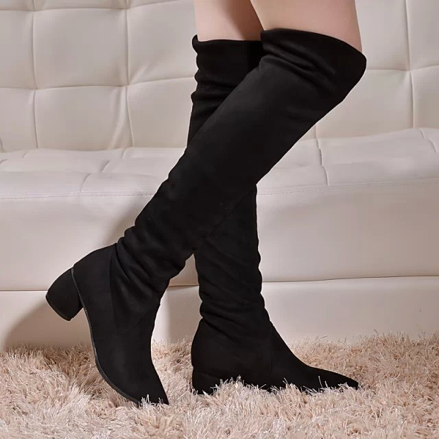 thigh high black suede boots page 5 - northface